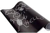 Tablica kredowa samoprzylepna - tablica kredowa dla dzieci + 5 x kreda w komplecie, 45 x 200 cm