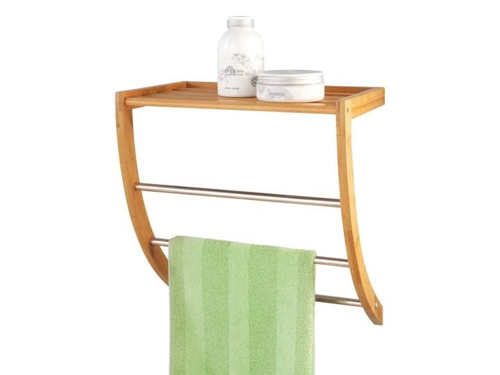 Wieszak na ręczniki + półka łazienkowa, 2 w 1, ZELLER Potrójny Wieszaki na ręczniki