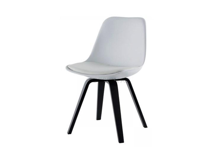 Mizag Krzesło Grace Ella białe nogi czarne