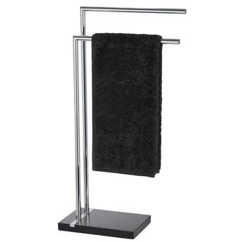 Stojak na ręczniki NOBLE BLACK - 2 ramienny, chromowany, WENKO