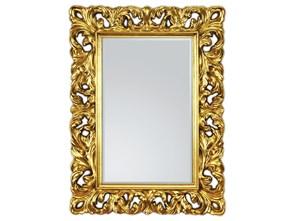 Lustro Złote Lustro Dekoracyjne Lustro W Stylowej Ramie Styl Glamour 62x85cm