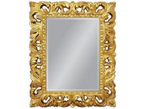 Złote Lustro Dekoracyjne w Stylowej Ramie RETRO 80x100cm