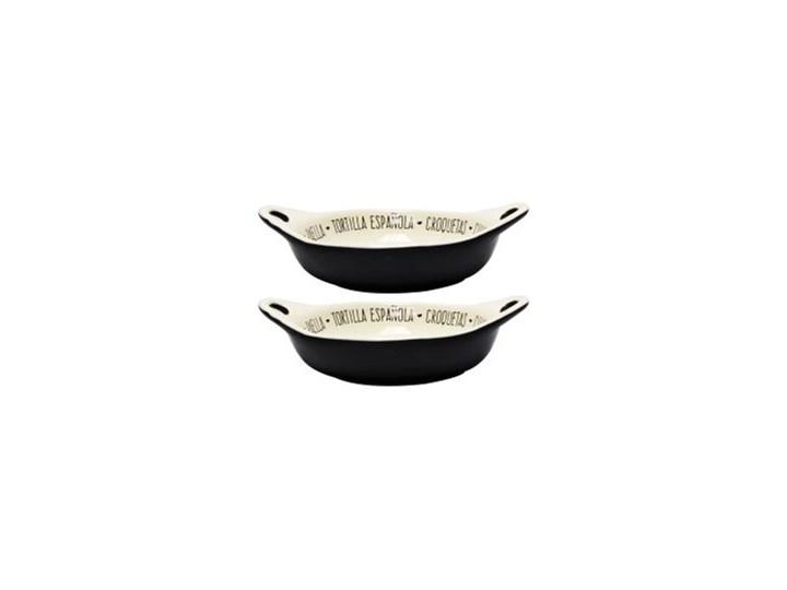 Komplet - 2 ceramiczne formy do zapiekania Kategoria Naczynia do zapiekania Ceramika Naczynie do zapiekania Kolor Czarny