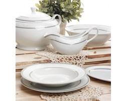 Serwis obiadowy BARON SILVER na 12 osób (43 el.) -- biały, szary, srebrny