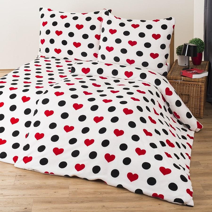 4home po ciel mikroflanela serca 160 x 200 cm 2 szt 70 x 80 cm komplety po cieli zdj cia. Black Bedroom Furniture Sets. Home Design Ideas