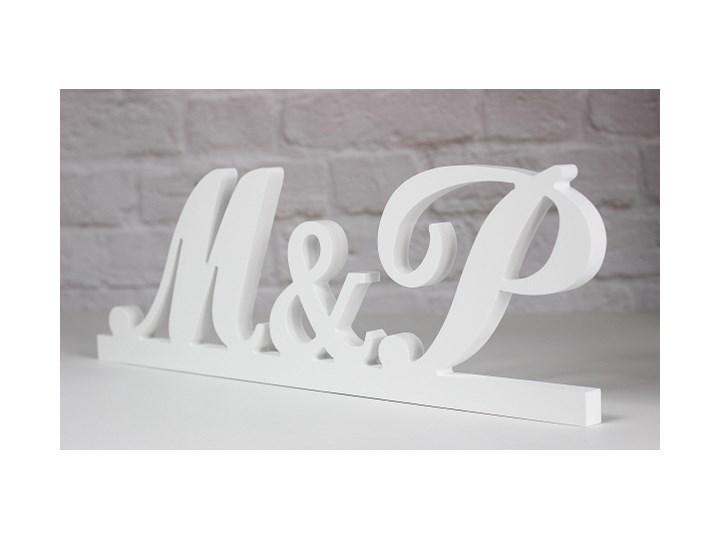 Literki Inicjały ślubne Weselne 3d Stojące H20 Stylizowane Tablice