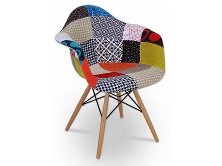 1f1e34655ba167 02760339 Krzesło lugo patchwork (kolor: odcienie niebieskiego, czerni,  czerwieni, pomarańczy, białego)