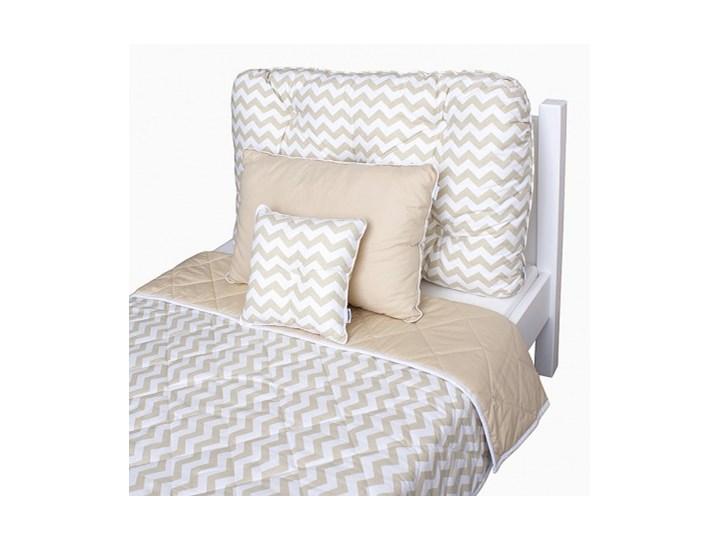 Poduchazagłówek Do łóżka W Beżowe Zygzaki Duża