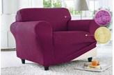 Pokrowiec na fotel jednoosobowy fioletowy