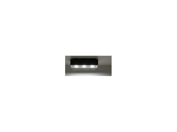 Sollux Lampa Plafon MONO 3 czarny SL.0072 Oprawa Sufitowa Stal Minimalistyczne Oświetlenie Loft Oprawa halogenowa Prostokątne Oprawa stropowa Kategoria Oprawy oświetleniowe