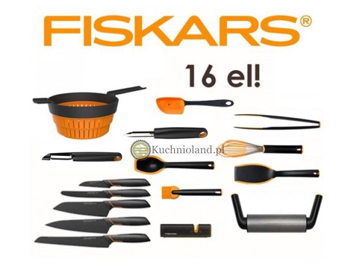 Zestaw Przybory Akcesoria Kuchenne Noże Fiskars Edge 16 Elementów