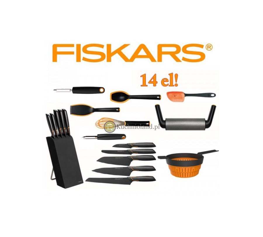 Akcesoria Przybory Kuchenne Noże Fiskars Edge Zestaw 14 Elementów