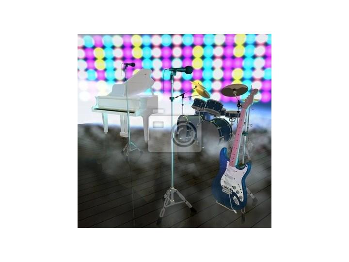 Plakat Instrumenty Muzyczne Na Scenie Muzycznej Plakaty Zdjęcia