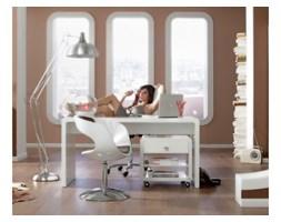 Kare Design Retro Design White Club Biurko 180x85cm Bialy Lakier Wysoki Połysk (74181)
