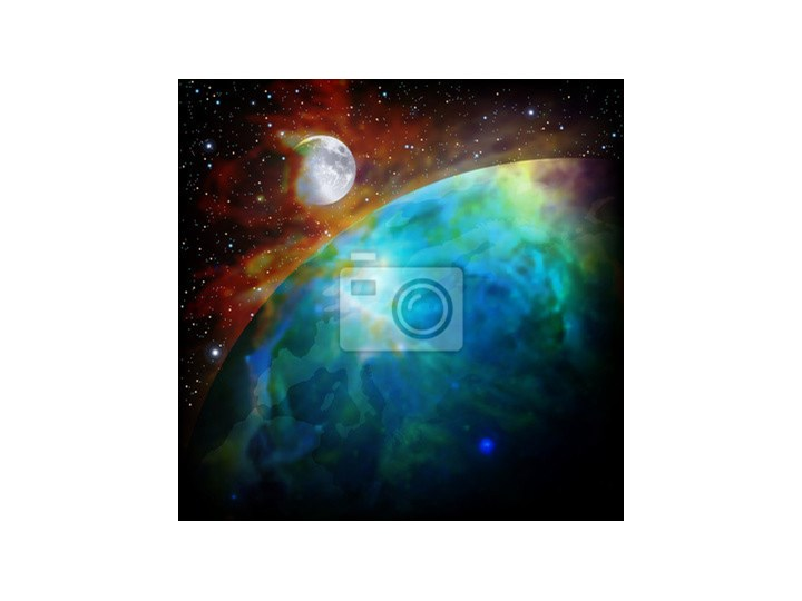 6b4bd4fec3a2ba Fototapeta abstrakcyjne tło z miejsca na Ziemi i Księżyca ...