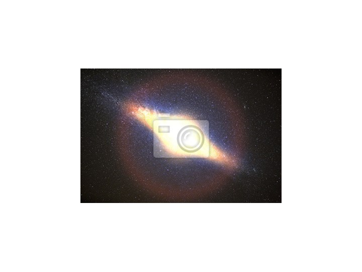 Plakat Najjaśniejszą Galaktyką Na Tle Ciemnego Nieba Z Gwiazdami