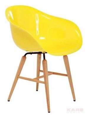 Kare Design Retro Design Forum Chrome Krzesło Żółte (76986)