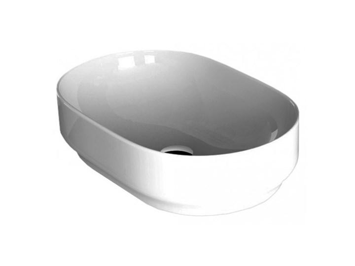 Hidra Gio 60x41cm Umywalka nablatowa GIL001 (G40) nablatowe Owalne Ceramika Styl skandynawski