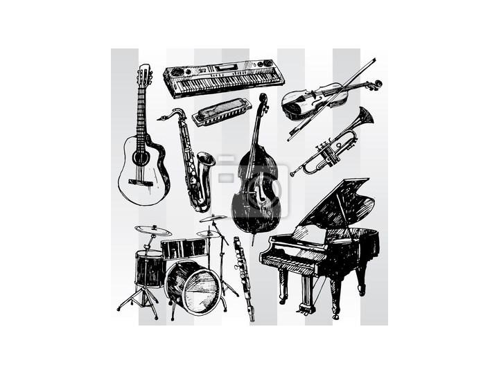 Plakat Instrumenty Muzyczne Hand Drawn Plakaty Zdjęcia Pomysły