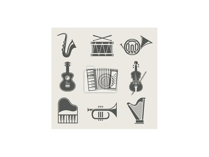 Plakat Instrumenty Muzyczne Zestaw Ikon Wektorowych Ilustracji
