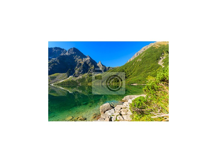 Wybitny Fototapeta Zielona Góra wody jeziora Morskie Oko, Tatry, Polska JZ62
