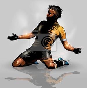 Naklejka soccer player scoring goal naklejki zdj cia pomys y inspiracje homebook - Bloomingville schorsing ...