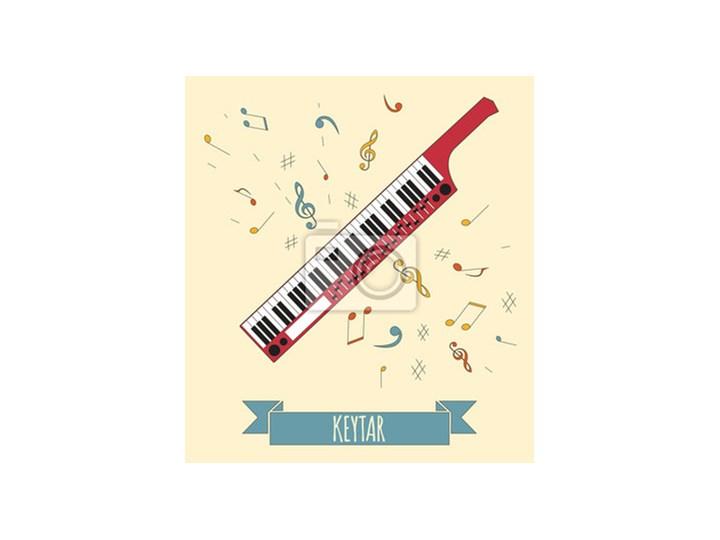 Plakat Instrumenty Muzyczne Szablonu Graficznego Keytar Plakaty
