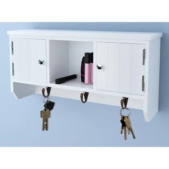 vidaXL Wisząca szafka na klucze i akcesoria z drzwiczkami i wieszakami