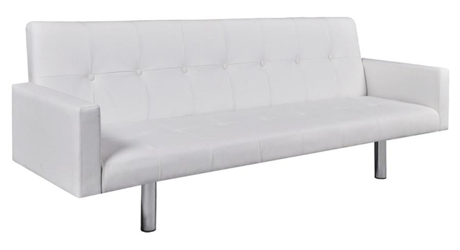 242215 bia a rozk adana sofa ze sztucznej sk ry z pod okietnikami sofy i kanapy zdj cia. Black Bedroom Furniture Sets. Home Design Ideas