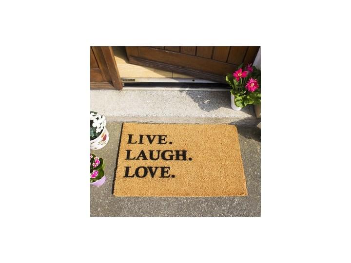 Wycieraczka z naturalnego kokosowego włókna Artsy Doormats Live Laugh Love, 40x60 cm Włókno kokosowe Kategoria Wycieraczki Kolor Brązowy