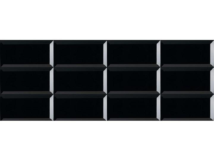 Ribesalbes Bisel Negro Brillo 10x20 Płytka ścienna ceramiczna szkliwona Prostokąt Przeznaczenie v2 Płytki ścienne