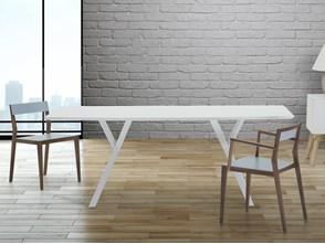 Stół do jadalni, kuchni, salonu - 180 cm - biały - LISALA