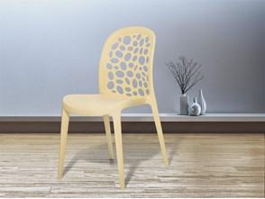 Krzesło ogrodowe beżowe - krzesło plastikowe - krzesło z tworzywa sztucznego - RUBIN