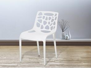 Krzesło ogrodowe - plastikowe białe - krzesło z tworzywa sztucznego - MORGAN