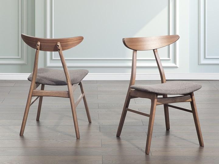 Drewniane Krzesło Tapicerowane Szare Krzesło Do Jadalni Kuchni Lynn