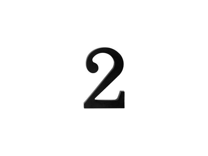"""Plastikowa cyfra na dom """"2"""", czarna"""