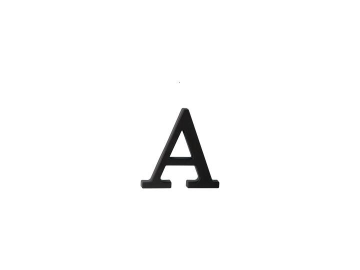 """Plastikowa litera na dom """"A"""", czarna"""