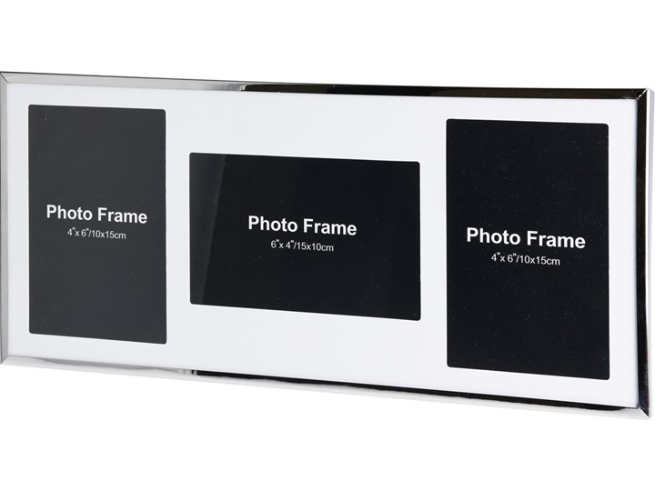 Metalowa ramka na 3 zdjęcia, do zdjęć - mini galeria foto Multiramka Rozmiar zdjęcia 18x39 cm