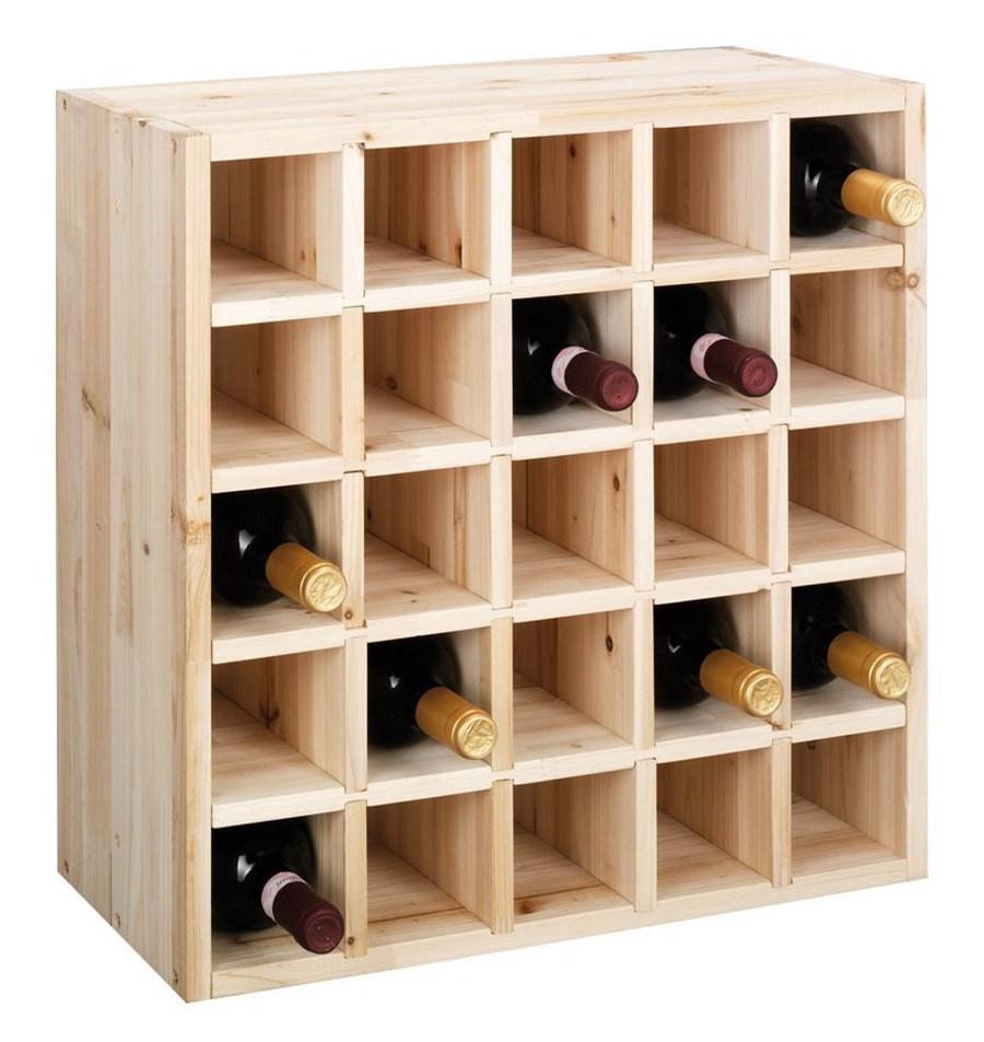 Drewniany Stojak Na Wino 25 Butelek Zeller