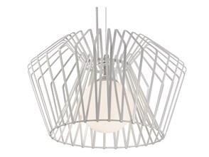 CAGE IV lampa wisząca 1 x 60W E27 druciana design biała zwis