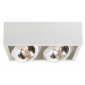 CUBE oprawa stropowa natynkowa 2 x 50W QR111 (biała) KASPA 70352201