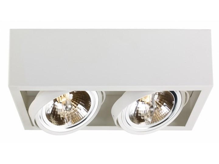 CUBE oprawa stropowa natynkowa 2 x 50W QR111 (biała) KASPA 70352201 Oprawa halogenowa Oprawa dekoracyjna Kolor Biały