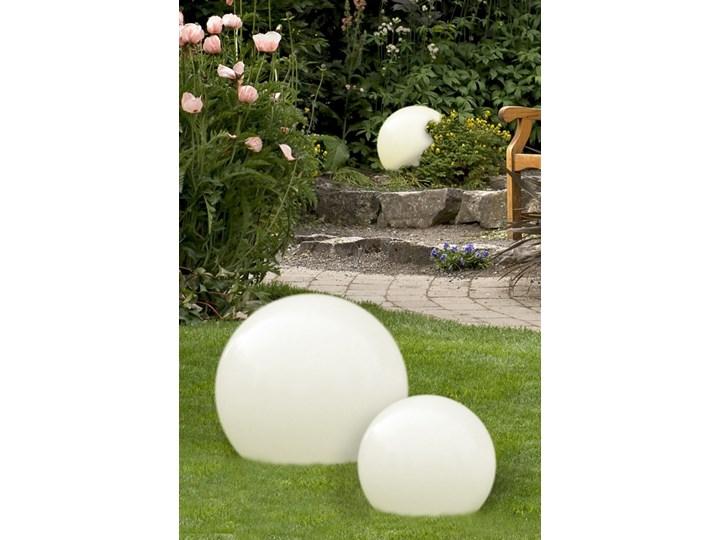 Gaja 35 Lampa Stojąca Ogrodowa 1 X 60w E27 Kula Ball Biała Design