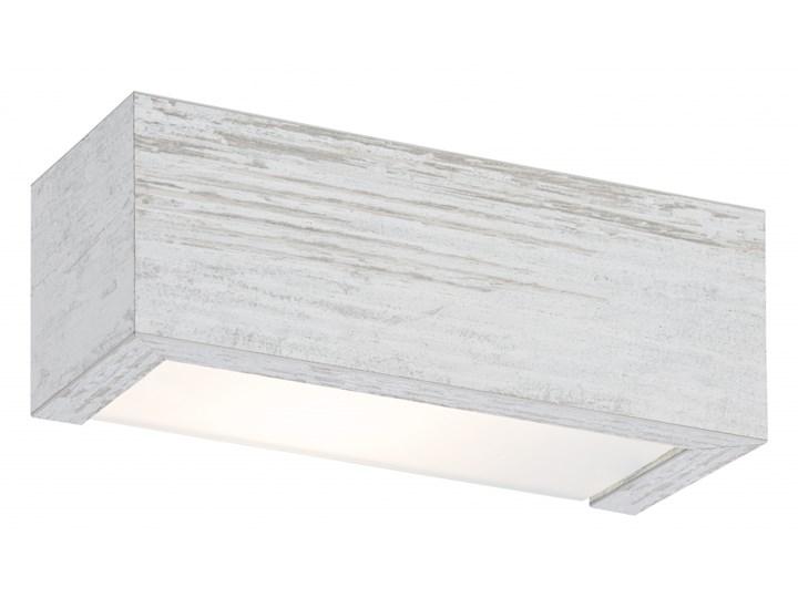 TEQUILA L kinkiet 2 x 60W E27 biały postarzany ARGON 691 Szkło Drewno Plafoniera Styl klasyczny