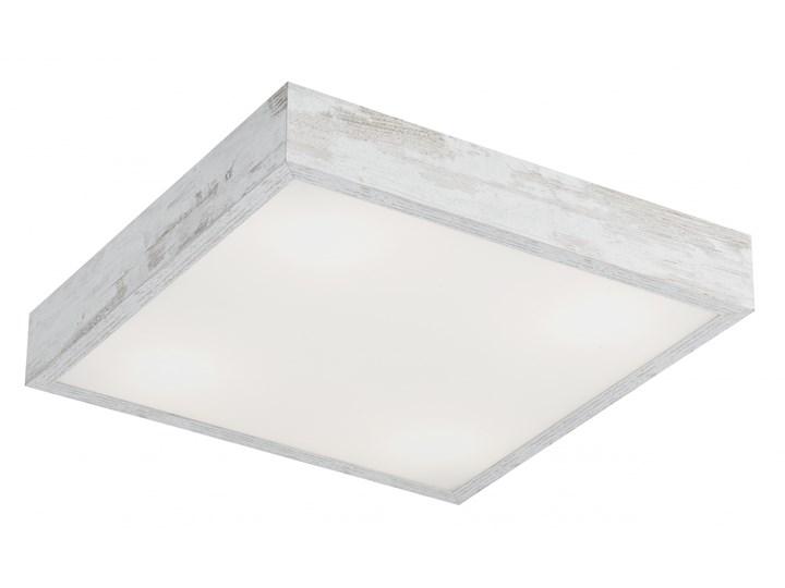 TEQUILA BIS L plafon 4 x 60W E27 biały postarzany ARGON 1601 szkło Styl klasyczny Drewno Metal Styl nowoczesny