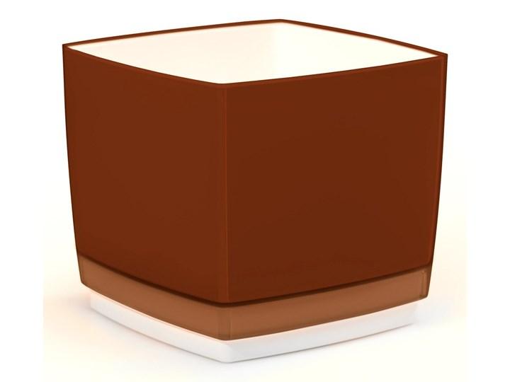 Doniczka Osłonka Plastikowa Cube 170 Brązowa