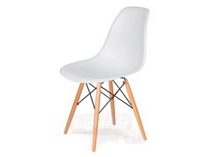 Krzesło DSW do nowoczesnych jadalni na drewnianych nogach