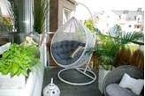 Miloo :: Fotel wiszący Cocoon ( biało - szary )