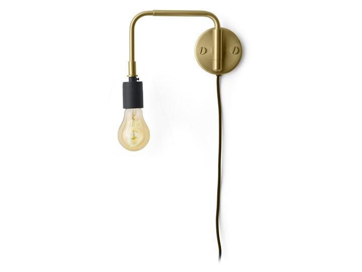 MENU :: Lampa ścienna Warren mosiężna 36 cm Metal drewno Styl industrialny
