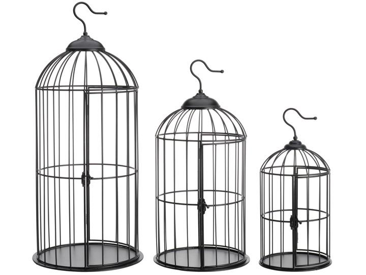 3 klatki dla ptaków 72 cm czarne